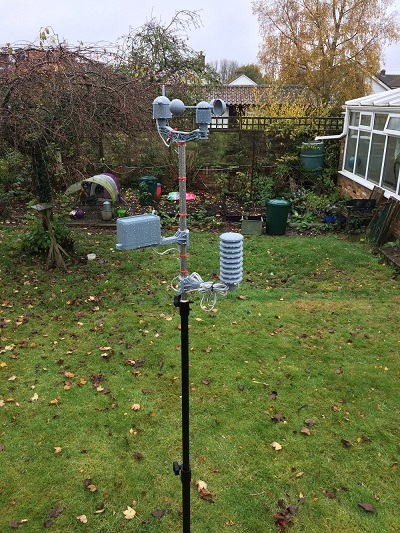 wide shot of weather station